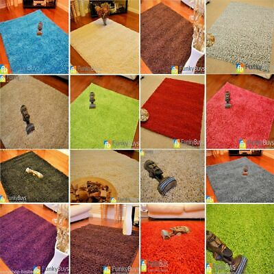Small Large XL Size Thick Plain Soft Shaggy Rugs Non Shed Modern High Pile
