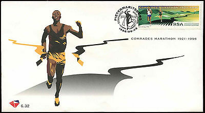 South Africa 1996 75th Anniv Of Comrades Marathon FDC First Day Cover #C14358