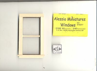 """1/"""" Scale Double Hung Non-Working Window Dollhouse Miniature Houseworks #5032"""