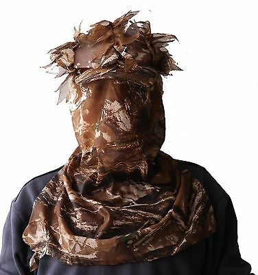 3D Sneaky Hunting/face Mask Camo Head Net mesh Woodland MO face turkey deer Hats