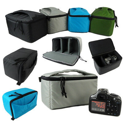 Portable SLR DSLR Camera Insert Partition Inner Padded Case Bag Protective Pouch