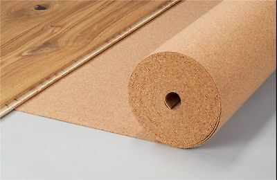1 meter x 10 meter x UNDERLAY CORK SHEET ROLL - 10m2 - Various Thickness