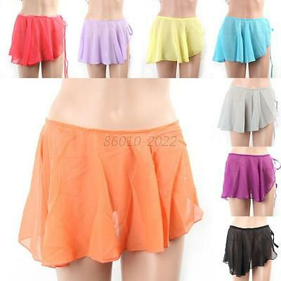 Kid Girls Solid Colors Chiffon Ballet Tutu Dance Skirt Skate Wrap Scarf New B70