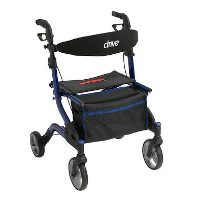 Drive Medical iWalker Euro Style Rollator, Blue RTL10555BL Four Wheel Rollators