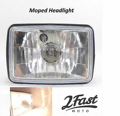 Moped Headlight Head Light Assembly Kinetic Puch Yumbo Hero Majestic