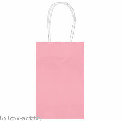 10 Classic SMALL Child's Birthday Party Solid PALE PINK Paper Loot Gift Bags