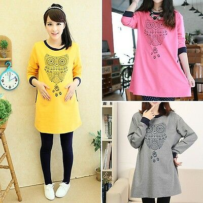 New Womne's tops t-shirt Pregnant women fashion sweater Maternity owl shirts