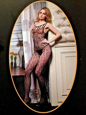 CATSUIT Bodystocking Aperta tuta SEXY Hot Lingerie shop intimo Rete Tutina Body