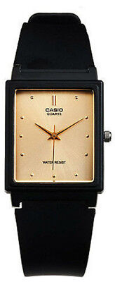 Casio Men's Analog Quartz Gold Tone Dial Black Resin Watch MQ38-9A