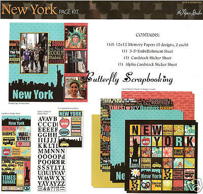 NEW YORK Travel Vacation 12X12 Scrapbooking Kit Page Kit Paper Studio 665299 NEW