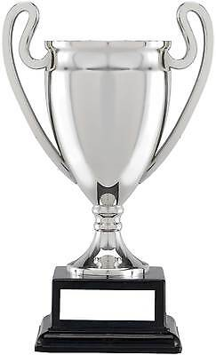 Silver Euro Trophy Cup,Black Block Base,3 Sizes,FREE Engraving