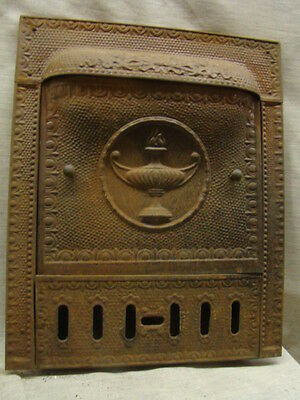 Antique Late 1800's Tin Torch Gas Fireplace Cover Tin Summer Cover A