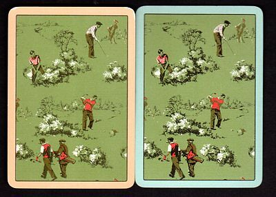 Vintage WIDE Swap/Playing Cards - Golfers Pair