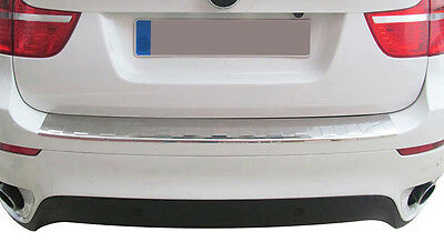 Chrome Rear Bumper Sill Protector Cover Trim Stainless Steel For Bmw X5 E70
