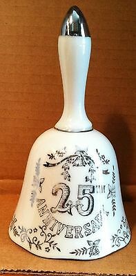 Vintage 25th Anniversary Porcelain Bell Pottery Collectibles Old