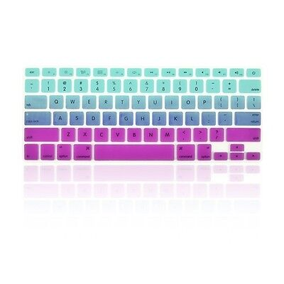 """Faded Ombre Light Blue&Purple Keyboard Cover Skin for Macbook/Pro13""""15""""17""""Retina"""
