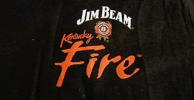 Jim Beam Fire Men's T Shirt - Black - Front Logo - Size Small - .NEW