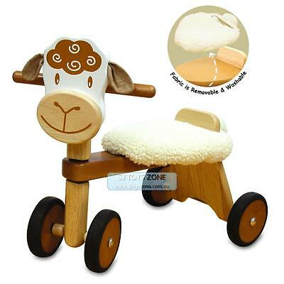 Kids Wooden Ride On Trike Lamb Ride On Baby Activity Walking Toy & Gift 18m+