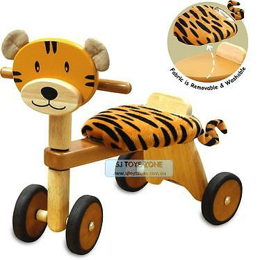 Kids Wooden Ride On Trike Tiger Ride On Baby Activity Walking Toy & Gift 19m+