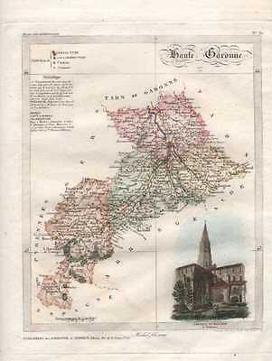 French Dept Map: Haute Garonne.  c1836