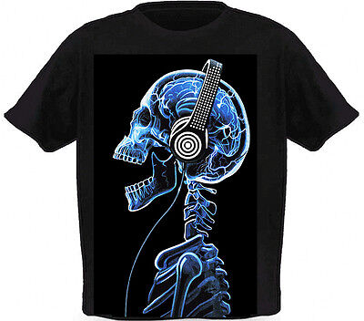 LED Sound Activated EL T shirt/light up shirt with mixes a silk screen - 103