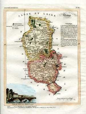 French Department Map: Rhone.  by  Lorrain  c1836