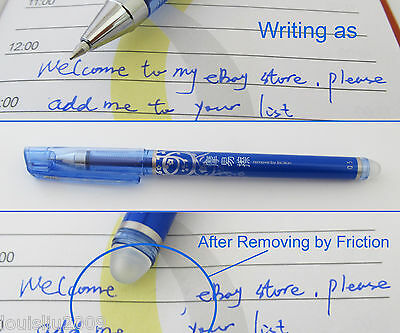 5pcs AIHAO 4370 0.5mm Bluek Erasable Remove by friction Rollerball Point Pens