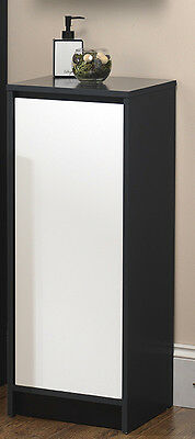 Free Standing Bathroom Floor Storage Cabinet Charcoal White Cupboard Unit