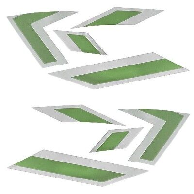 MasterCraft OEM 2013 X-Star Lime Green / Silver 8-Piece Boat Raised Decal Kit