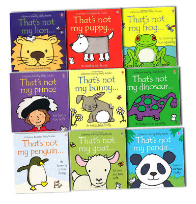 Thats Not My Touchy Feely Collection 9 Books Pack Set By Fiona Watt-Frog, Puppy,