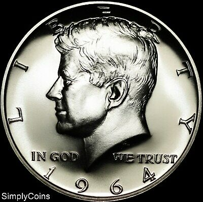 1964 Kennedy Half Dollar 90% Silver ~ GEM Proof Uncirculated ~ US Coin