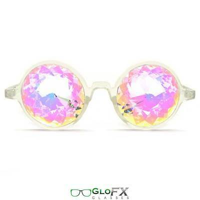 GloFX Clear Kaleidoscope Glasses- Rainbow Translucent Frame Multicolor Opticals