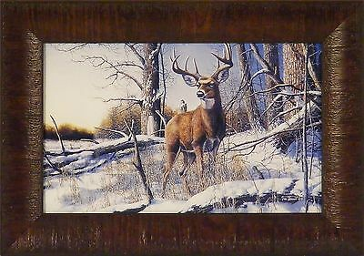 AFTER THE SEASON by Jim Hansel 11x15 Deer Buck Snow Hunting FRAMED PRINT PICTURE