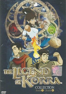 Avatar The Legend Of Korra (Book 1+2+3+4) DVD + EXTRA DVD
