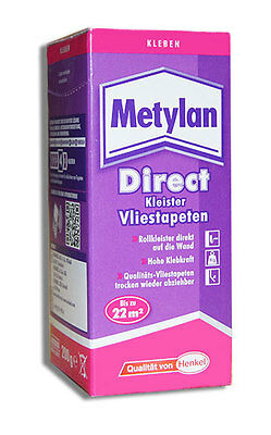 Vlies Tapeten Kleister Kleber Henkel Metylan Direct 200g
