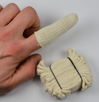 20x Cotton finger guard cots elastic avoid finger prints clean polish craft tool