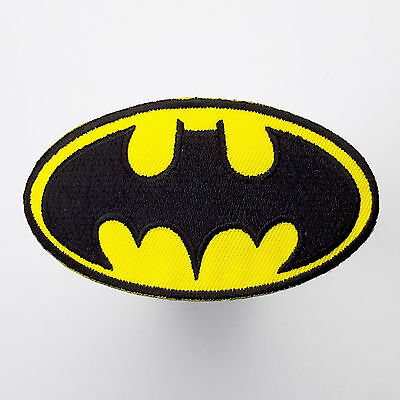 "BATMAN Classic ""BAT"" Logo Embroidered Iron-On Patches - NEW - WHOLESALE DEALS"
