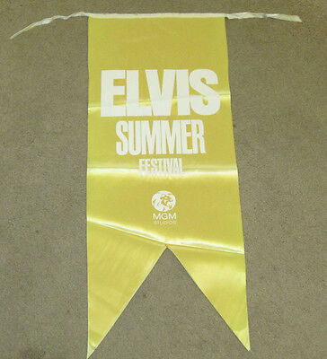 Elvis Presley MGM Summer Festival Gold Banner 1970 2 Sided RARE