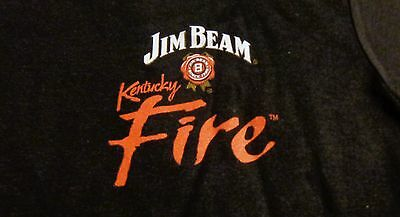 Jim Beam Fire Women's T Shirt - Black - Front Logo - Size Medium - NEW