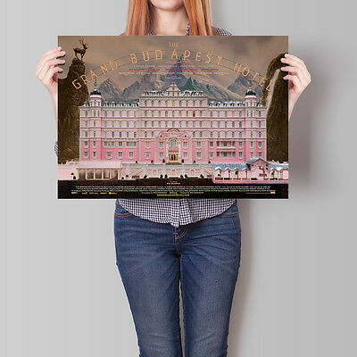 The Grand Budapest Hotel Movie Poster Wes Anderson Film A2 A3 A4