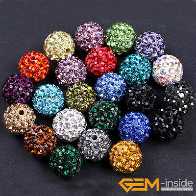 10mm Sparkle Pave Rhinestone Czech Crystal Ball Beads For Jewelry Making 10 Pcs