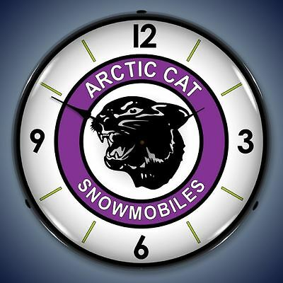 Arctic Cat Snowmobiles Lighted Wall Clock