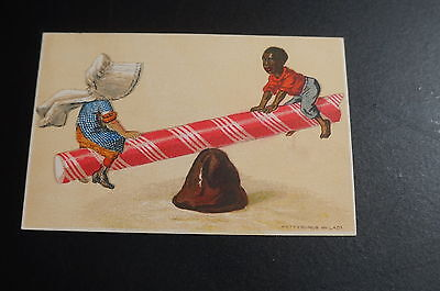 Black Americana Child Candy 1800's Trade Card Lithograph Litho Advertising