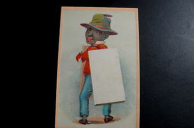 Black Americana Victorian 1800's Trade Card Lithograph Litho Advertising
