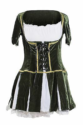 Robin Hood Fancy Dress 8 10 12 14 Ladies Fairytale Costume Elf Medieval