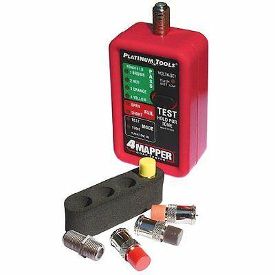 Platinum Tools T104C 4MAPPER Coax Tester with 4 Custom Remotes and 4 Position Ho