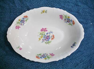 "Syracuse China Federal Floral Bouquet 10"" Oval Vegetable Bowl - Fine SY38"