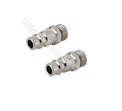 """2 Quick Release Male Euro Compressed Air Line Connector Coupler Fitting BSP 1/4"""""""