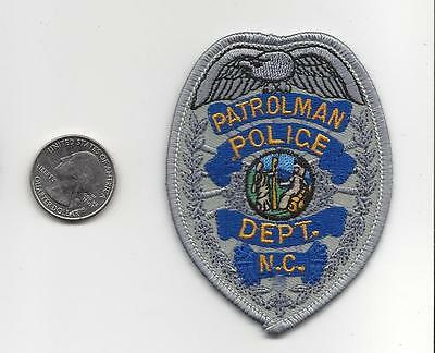 PATCH PATROLMAN POLICE DEPT. NORTH CAROLINA