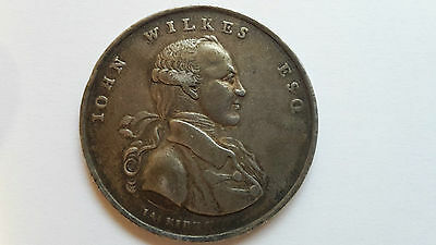 Genius Of Liberty Elected Knight The Shire Of Middlesex Medal 1768 John Wilkes